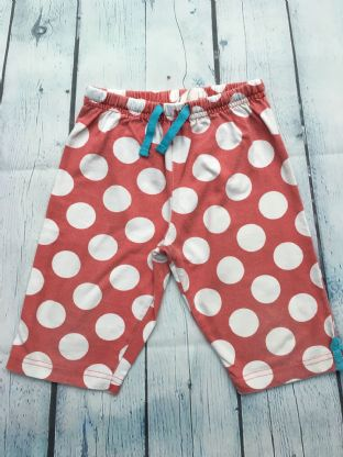 Mini Boden red and white spotty legging shorts age 4-5